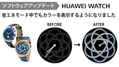 HUAWEI WATCHファイスの機能を追加  6月24日よりプッシュ通知による ソフトウェアのアップデートを開始(※1)