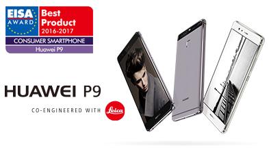 『HUAWEI P9』、ヨーロッパ消費者スマートフォン2016-2017部門で EISAアワードを受賞